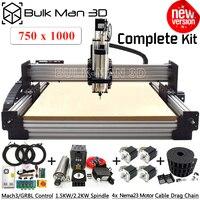 7510 최신 WorkBee CNC 라우터 기계 전체 키트 Tingle 장력 시스템 4 축 CNC 밀링 완료 키트 750x1000mm