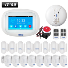 KERUI K52 WIFI Alarm GSM systemy Panel 4 3 Cal kolorowy wyświetlacz TFT o przekątnej bezpieczeństwa domu inteligentnego mieszkalnych bezprzewodowy Alarm antywłamaniowy zestaw tanie tanio CN (pochodzenie) Czujnik do drzwi okna USB 5V 157*113*10mm wireless English White 850 900 1800 1900MHz 2 4G 80dB DC3 7V 2000mAh