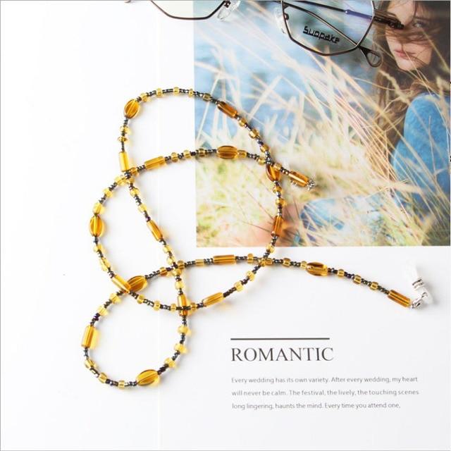 Retro Eyewears Cord Holder neck strap Rope Fashion Chic Womens  Eyeglass Chains Sunglasses Reading Beaded Resin Glasses Chain