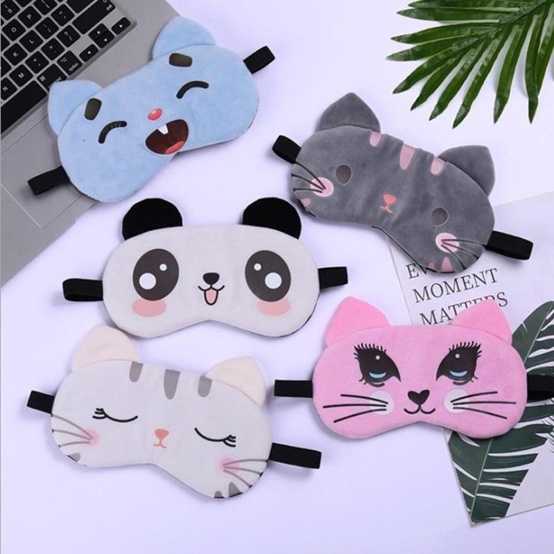 Cute Animal Sleep Eye Mask Plush Eye Cover …