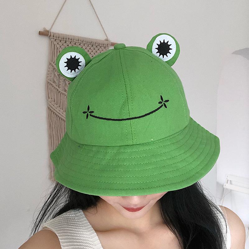 2020 Frog Bucket Hat for Women Summer Autumn Plain Female Panama Outdoor Hiking Beach Fishing Cap Sunscreen Woman Sunhat Bob