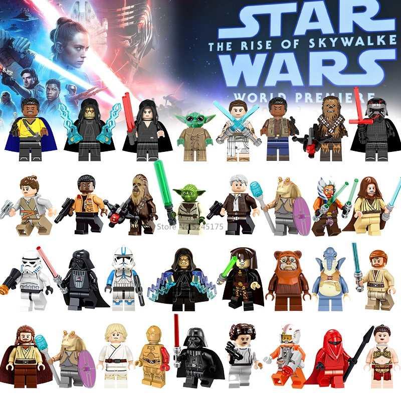 מלחמת כוכבים דמויות לוק Leia האן סולו תינוק יודה דארת Obiwan Ray פין Kylo Starwars סרט בניין צעצועים בלוקים ילדי מתנות