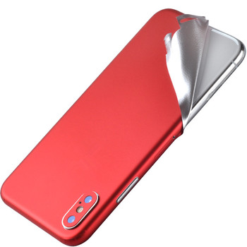 New Pure Red Durable PVC Phone Stickers For iPhone 6 6S 7 8 Plus Back Films Decal For iPhone 11 XS X SE SE Sticker Adhesive Ski image