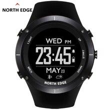 цена Man outdoor sport digital smart watch waterproof 50m fishing Altitude Barometer Thermometer Compass GPS Heart Rate NORTH EDGE онлайн в 2017 году
