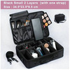 Female High Quality Professional Makeup Organizer Bolso Mujer Cosmetic Bag Large Capacity Storage case Multilayer Suitcase