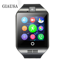 Smart Watch Q18 Passometer Clock with Touch Screen Camera TF card Bluetooth Smartwatch for Android IOS Phone Men
