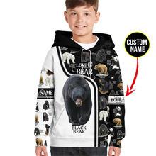 Толстовки с 3d принтом love bear детский пуловер именем на заказ