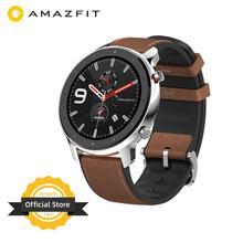 Versão global amazfit gtr 47mm relógio inteligente 5atm à prova d24 água smartwatch 24 dias bateria controle de música para android ios telefone