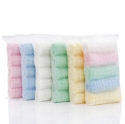 5 pçs/set 6 camadas de Musselina de Algodão Macio Toalhas de Rosto Do Bebê Lenço Toalha de Rosto Toalha de Banho Alimentação panos do burp Limpe Coisas