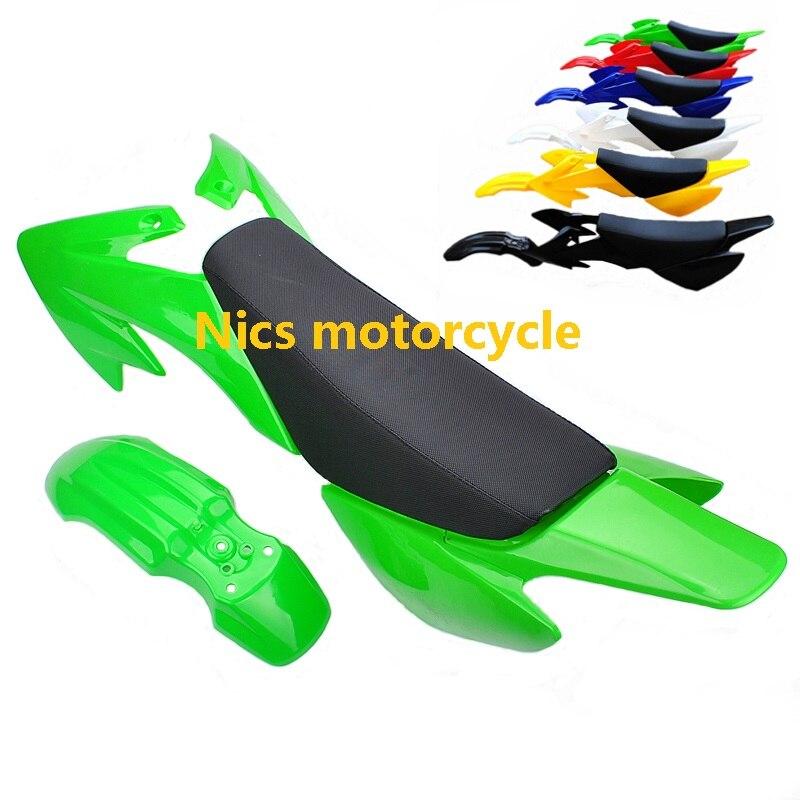 Plastic Body Fender Kit for Honda XR50 CRF50 Chinese Mini Dirt Bikes Necaces Plastic Fender Fairing Kit Set