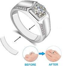 19/38 ajustador do tamanho do anel dos pces para anéis soltos, ajustador transparente invisível do sizer do anel cabem anéis largos, espaçador do redutor do tamanho do anel