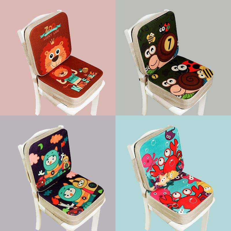 39*39cm Booster Seat Cushion Children Increased Chair Pad Anti-Skid Waterproof Baby Dining Cushion Adjustable Chair Cushion(China)