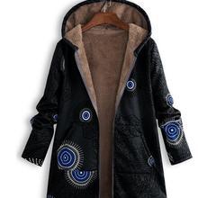 Hoodies Print Parka Mujer Winter Coats Women Thicken Velvets