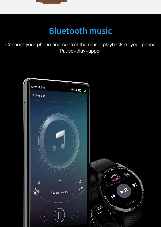 Hf3ef151b41744a98bf10d49c5ac9da64Q 696 L9 Full touch Smart Watch Men ECG+PPG Heart Rate Blood Pressure oxygen Monitor IP68 Waterproof Bluetooth Smart Bracelet