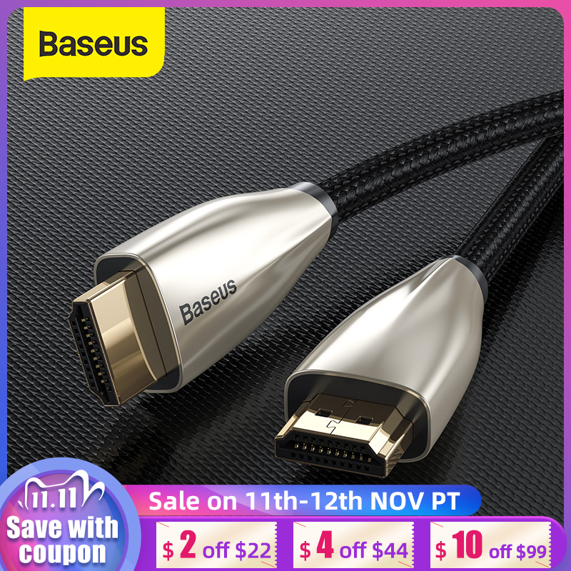 Baseus HDMI Cable 4K HDMI to HDMI Cable for Apple TV Switch Splitter 60Hz HDMI 2 0 Cable for TV Box Audio Vedio Cord HDMI
