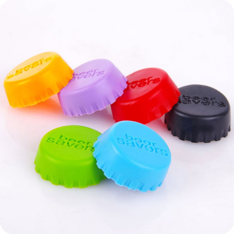 6pcs/set Silicone Bottle Cap Wine Stoppers Beer Cap Protector Hat Drink Seasoning