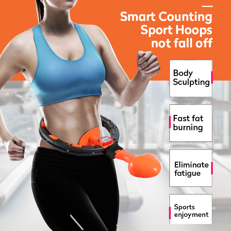 Smart Counting Fitness Sport Hoop Yoga Waist Exerciser Circle Adult Gymnastic Hoop Muscle Trainer Loss Weight Fitness Equipment