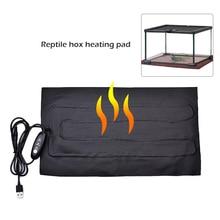 Alfombrilla de calefacción de reptil de 8,5 W, almohadilla de calefacción de reptil USB para acuarios