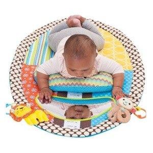Image 4 - OLOEY תינוק חדר כושר Playmat צבעוני ילדים עמיד למים מחצלת גובה לשחק שמיכת משחק שטיח מוקדם ללמוד פעילות מחצלת מראה כרית בובה
