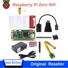 Raspberry Pi Zero WH-Pin de cabezal de soldadura inalámbrico, con Bluetooth, WIFI, adaptador de corriente, disipadores de calor, Cable, funda para tarjeta SD, Original