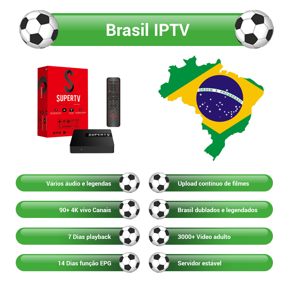 Supertv Red Box Brasil With 750+ Live Channels IPTV Easy Use Android Apk 3000+ Hot Club Vod With EPG Playback