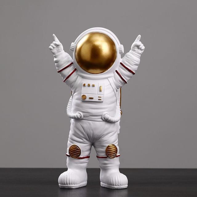Astronaut Spaceman Creative Statue Car Decor Art Crafts Figurine Abstract Sculpture Home Office Desktop Decoration Ornament Gift 2