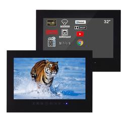Souria 32 inches Black Bathroom WiFi Smart Android LED Waterproof TV 1080P Advertising Monitor