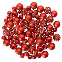 100Pcs 3-6CM Christmas Balls Hanging Pendants for Xmas Tree Decoration