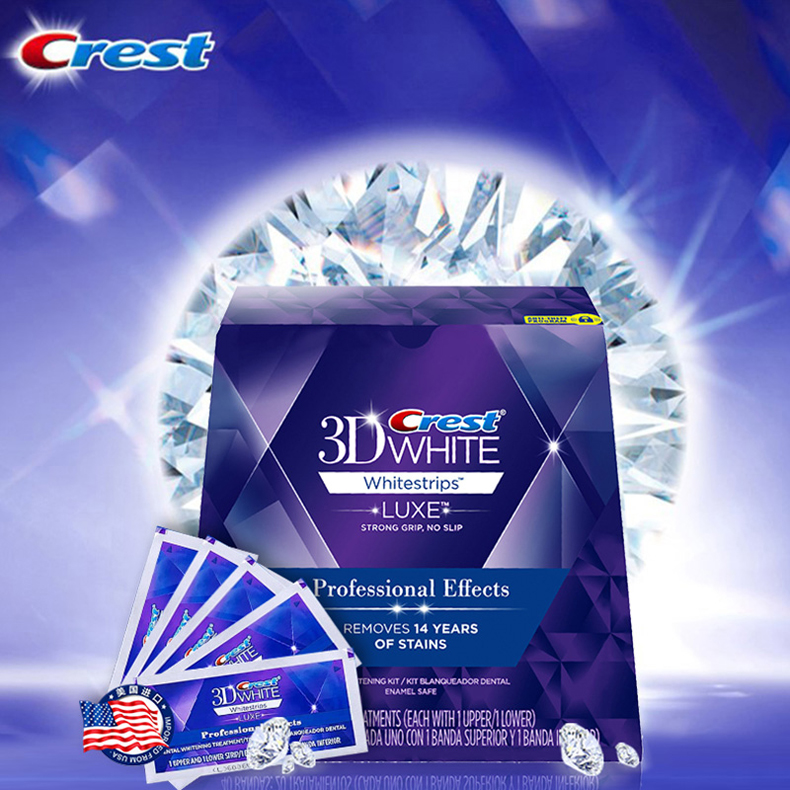 Original Crest 3D White Bleach Luxury Professional Effect 20 Treatments 1 Box Oral Hygiene