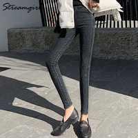 Women Trousers Plus Size High Waisted Ladies Skinny Pants Stretch Pencil Pant Female Black Work Pants For Women 4xl 5xl 6xl 2020