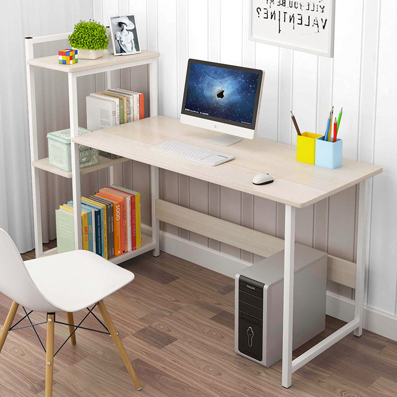 Economical Desk Home Desktop Computer Desk Minimalist Modern Table Bedroom Simple Bookcase Combination Students Doing Homework