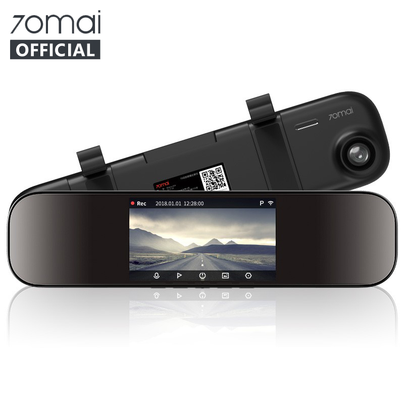Original <font><b>70mai</b></font> <font><b>Dash</b></font> <font><b>Cam</b></font> <font><b>Mirror</b></font> Car DVR 1600P 140FOV Night Vision <font><b>Mirror</b></font> Car <font><b>Cam</b></font> Recorder 24H Parking Monitor Accessories image