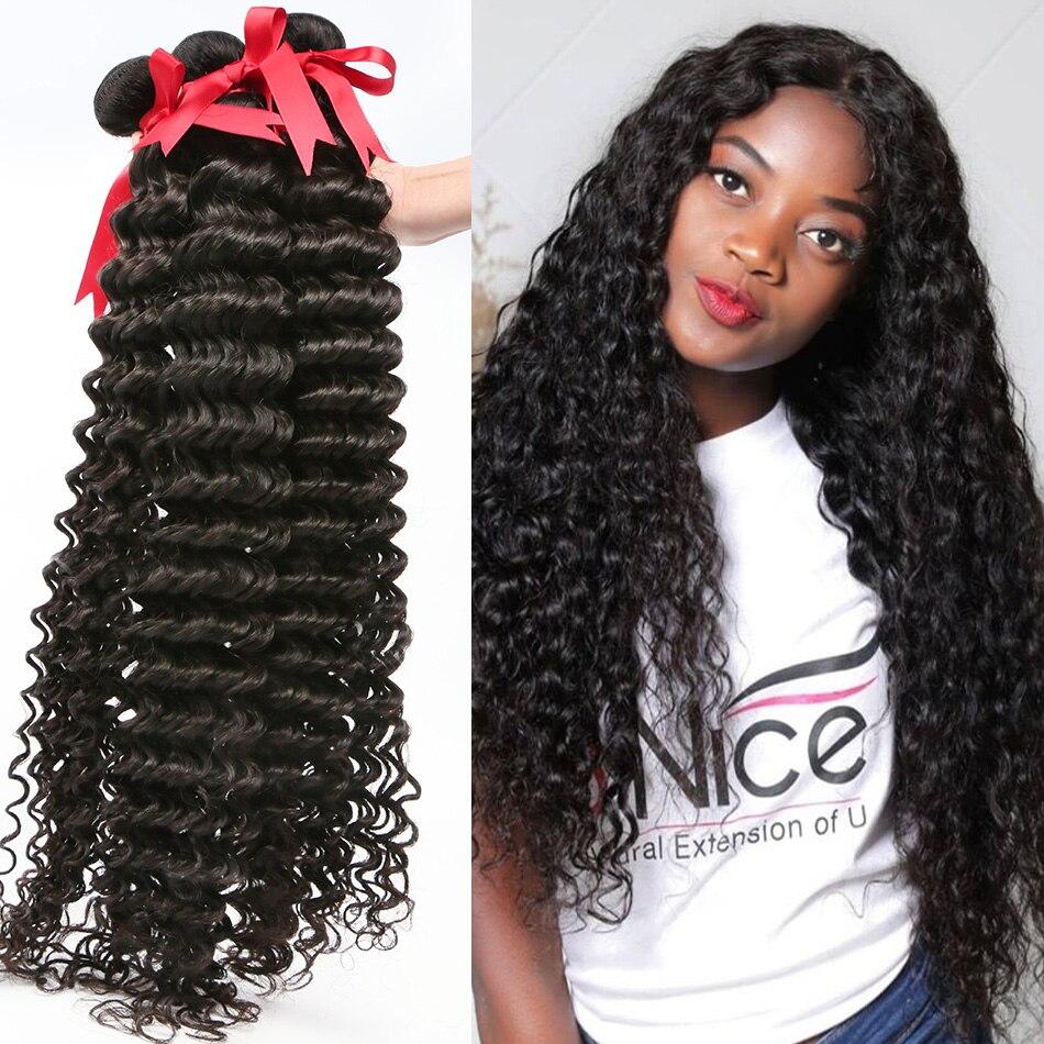 Объемных кудрявы волнистых пряди волос глубокая волна 28 30 40 дюймов, бразильские человеческие волосы пряди воды влажные и волнистые волосы