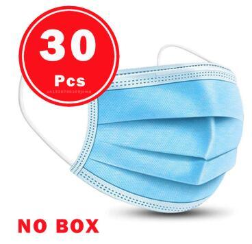 Face Mask Protective Masks Anti Virus Mouth Filter& Disposable Use &Soft Breathable  Flu Hygiene Masks 3-Layer Non-woven 1