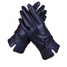 Harppihop Fall and Winter Genuine Leather Gloves for Women 2