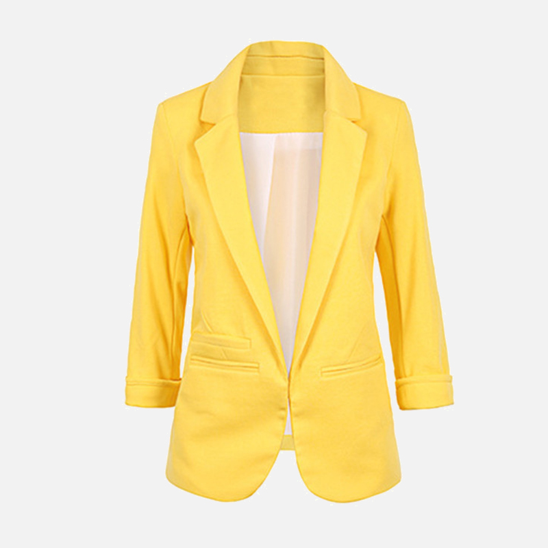 Autumn Spring Shawl Collar Women's Blazer Office Lady Slim Elegant Candy Color Blazers 2020 Solid Formal Work Fit Clothes Female