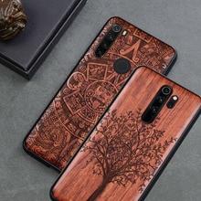 Für Xiaomi Redmi hinweis 8 pro Fall Schlanke Holz Zurück Abdeckung TPU Stoßstange Fall Auf Xiaomi redmi hinweis 8 Pro xiomi redmi hinweis 8 Telefon Fällen