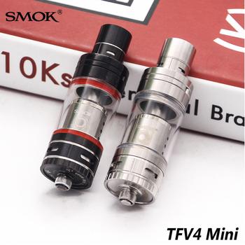 Oryginalny SMOK TFV4 Mini Atomizer 3 5 w ml elektroniczny papieros vape parownik V4 Mini tank dla R80 Koopor Mini 2 Mod Xcube Mini tanie i dobre opinie TFV4 Mini (Full Kit) Sub Ohm Tank Metal Wymienne Atomizer tank