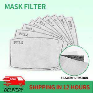 Paper FILTER-MASK Activated Mouth PM2.5 Adult Child 5-Layers Health-Care 10/20/50/100pcs