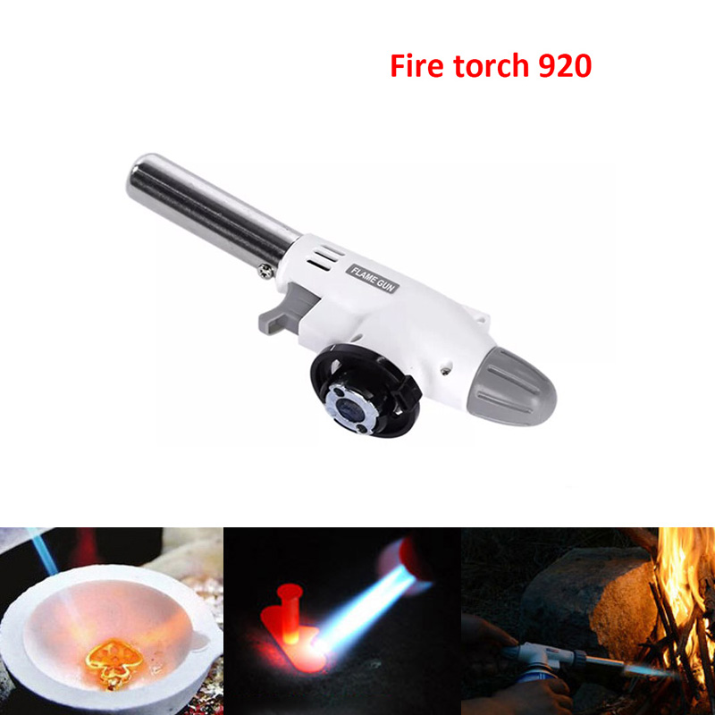 920 Metal Gas Welding Torch Flame Gun Ignition Lighter Butane Portable Gas Camping Gas Welding Torch For Camping Hiking DropShip