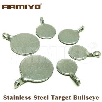 Armiyo Dia 4cm 3cm 2,5 cm Acero inoxidable blanco Bullseye caza catapulta Airsoft tiro Paintball arco toro accesorios de entrenamiento ocular
