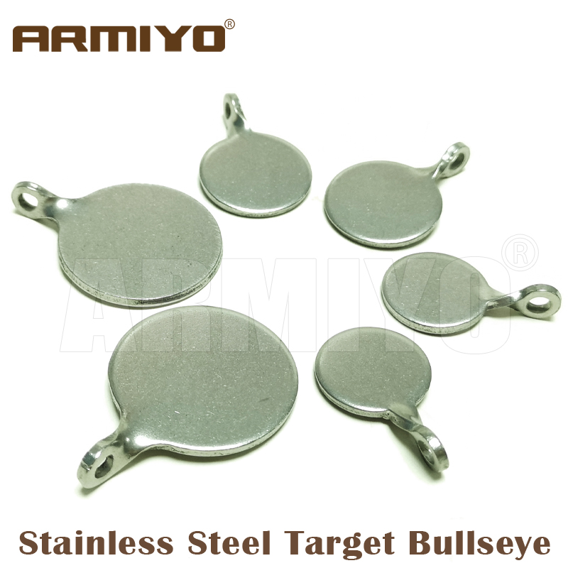 Armiyo Dia 4cm 3cm 2.5cm Stainless Steel Target Bullseye Hunting Catapult Airsoft Shooting Paintball Archery Bow Bull's-eye Training Accessories