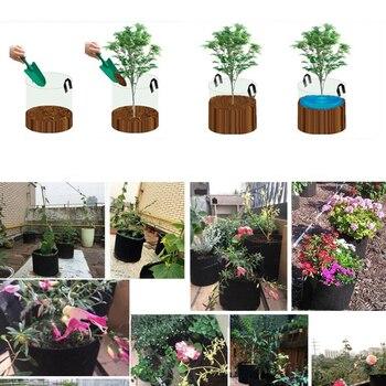 5 size plant grow bags home garden