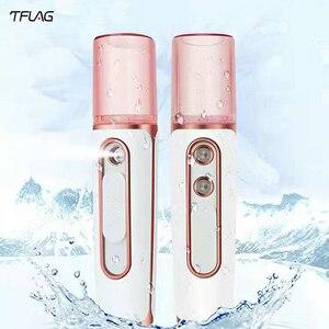 Image 1 - Tflag Dual Hole Nano Spray Water Supply Instrument Charging Xiomi Portable Humidifier Water Supply Instrument With Power Bank