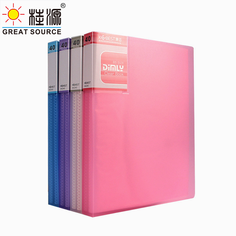 a5 pp apresentacao livro 20 bolsos transparentes exibir livro projeto pasta fantasia cor pasta w165 l225mm