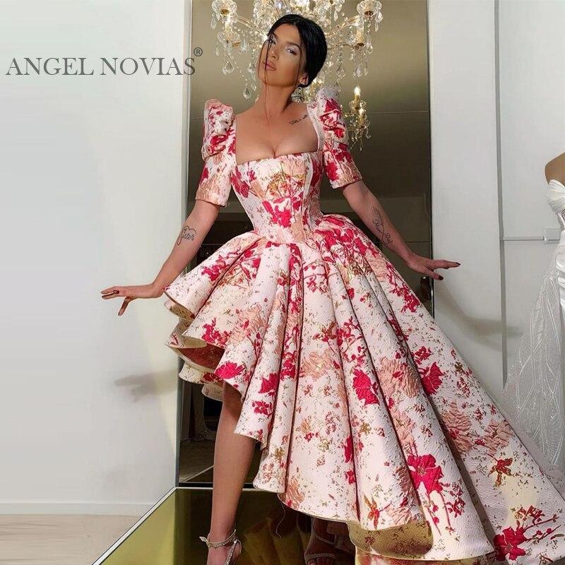 Long Asymmetrical Arabic Evening Dress 2020 Kaftan Dubai Sukienki Wieczorowe Evening Gowns Vestidos De Fiesta De Noche