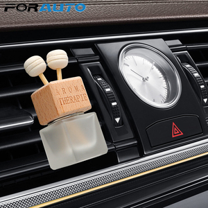 FORAUTO Air Freshener Ornament Perfume Bottle Pendant Essential Oils Auto Car Perfume Bottle Hanging Glass Bottle Car-styling(China)