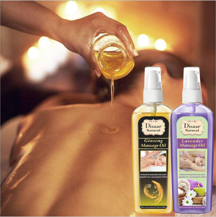 120ML Natural Pure Plant Therapy Essential Oil Anti Aging Ginger Oil Lavender Oil Body SPA Relax Massage Oil