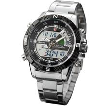 Steel Porbeagle SHARK Sport Watch Luxury Black Digital Male Quartz Fashion LCD Date Stopwatch Relogio Masculino Watches /SH047(China)