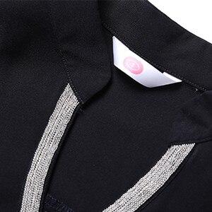 Image 5 - 2019 printemps nouvelle chemise en mousseline de soie femmes mode col en V à manches longues mince tempérament blouses bureau dames travail hauts